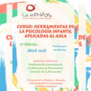 """Nuevo Curso: Abril """"Herramientas de la Psicología Infantil Aplicadas al Aula"""""""