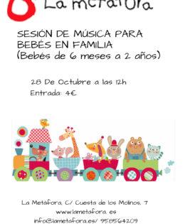 Sesión de Música para Bebés en Familia